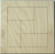 Skládačka na decoupage - 12x12 cm