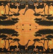 Ubrousek Afrika - sloni, zirafy