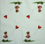 Ubrousky detske - medved s balonkem