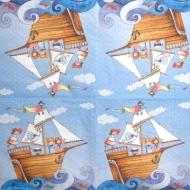 Ubrousky detske - pirati na mori