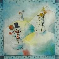 Ubrousky detske - Snehulaci