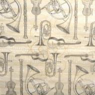 Ubrousek hudební - malované hudební nástroje