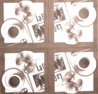 Ubrousek káva - kafe, croissant