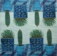 Ubrousek květiny - kaktusy