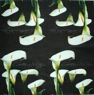 Ubrousek květiny - bílá kala