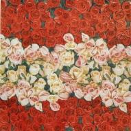 Ubrousek květiny - růže mix