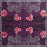 Ubrousek květiny - růžové květy