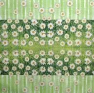 Ubrousek květiny - sedmikrásky v trávě