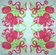 Ubrousek květiny - kytice tulipánů
