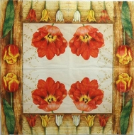 Ubrousek květiny - červený tulipán