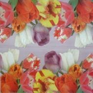 Ubrousek květiny - barevné tulipány mix
