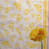 Ubrousek květiny - žlutá kopretina