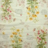 Ubrousek květiny -žluté a růžové kvítky