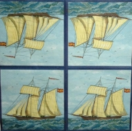 Ubrousek mořský svět - velká plachetnice