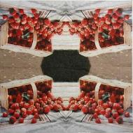 Ubrousek ovoce - jahody košík