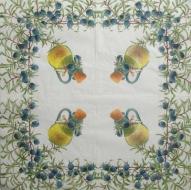 Ubrousek plody - olivové větvičky a karafa