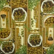 Ubrousek plody - olivový olej