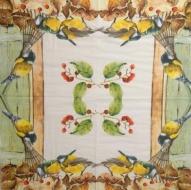 Ubrousek ptáci - sýkorky v zahradě