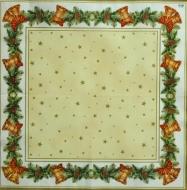 Ubrousek vánoční - zvonky v rámu