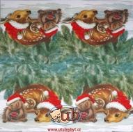 Ubrousek vánoční -  zvířátka