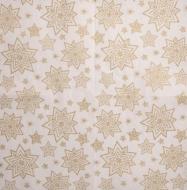 Ubrousek vánoční -  zlaté hvězdičky