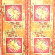 Ubrousek vánoční - zvonečky v rámečku