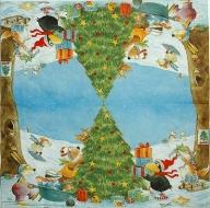 Ubrousek vánoční - havran a Vánoce