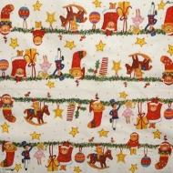 Ubrousky vánoční - hračky na girlandě