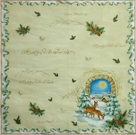 Ubrousek vánoční - srnky
