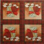 Ubrousek vánoční - krabička s mašlí