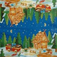 Ubrousek vánoční - perníková chaloupka