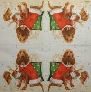 Ubrousek vánoční - psí Santa