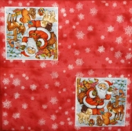 Ubrousek vánoční - Santa na čeveném