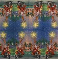 Ubrousek vánoční - Santa na motorce