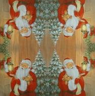 Ubrousek vánoční - Santa s lucernou