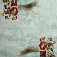 Ubrousek vánoční - Santa a sněhulák