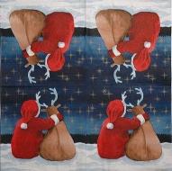 Ubrousek vánoční - Santa se sobem