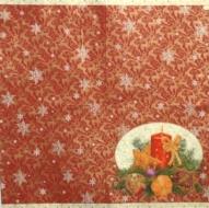 Ubrousek vánoční - svícen na červeném