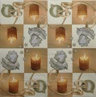 Ubrousek vánoční - svíčky a andílci