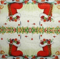 Ubrousek vánoční - bota s dárky