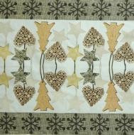 Ubrousek vánoční - dřevěné ozdoby