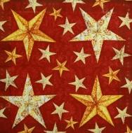Ubrousek vánoční - zlaté hvězdy