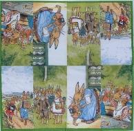 Ubrousek velikonoční - zajíci