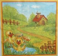 Ubrousek velikonoční - kačenky v rybníce