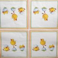 Ubrousek velikonoční - tři malovaná kuřátka