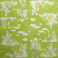 Ubrousek velikonoční - zajíčci na zeleném