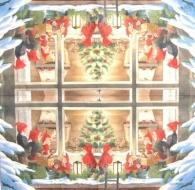 Ubrousek víly a elfové - skřítci za oknem