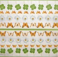 Ubrousek vzorovaný - motýli a sedmikrásky