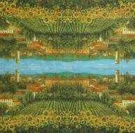 Ubrousek zátiší - lán slunečnic
