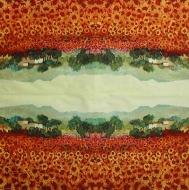Ubrousek zátiší - červený lán slunečnic